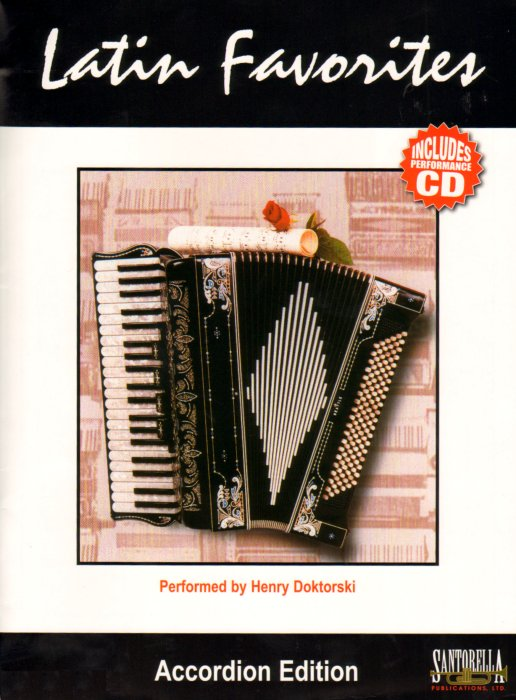 Accordion Music Book and CD: Latin Favorites for Accordion arranged by