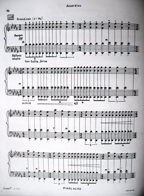 One page from the accordion part